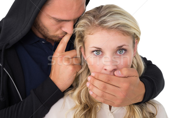 Theft covering young womans mouth Stock photo © wavebreak_media