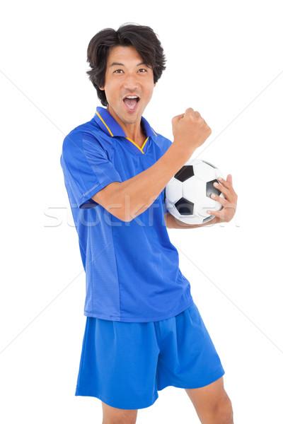 Stock fotó: Portré · futballista · éljenez · fehér · férfi · sport