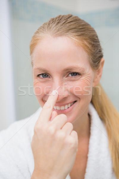 Feliz tocar nariz casa bano Foto stock © wavebreak_media