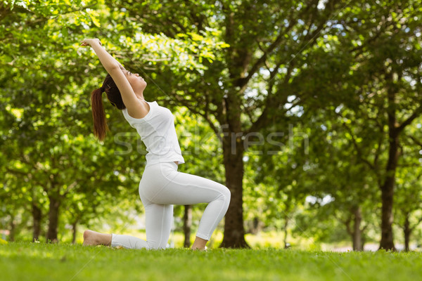 Healthy woman doing stretching exercises at park Stock photo © wavebreak_media