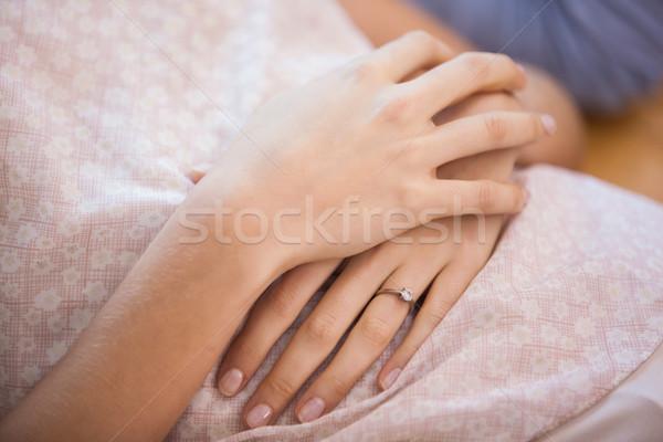Close up of couple lying on the floor Stock photo © wavebreak_media