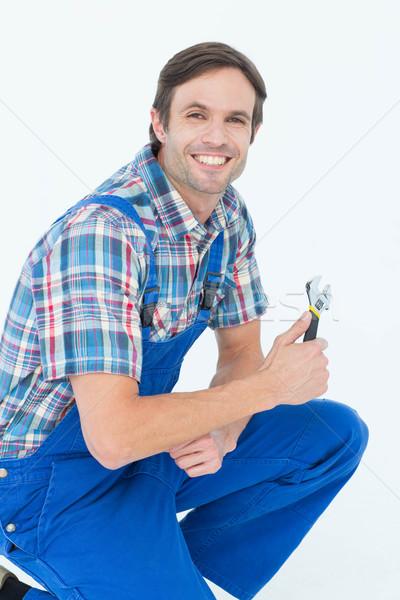 водопроводчика портрет белый человека Сток-фото © wavebreak_media
