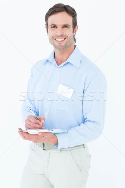 Portret opzichter schrijven merkt witte Stockfoto © wavebreak_media
