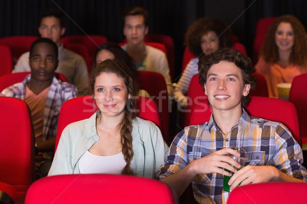 Kijken film bioscoop meisje man Stockfoto © wavebreak_media