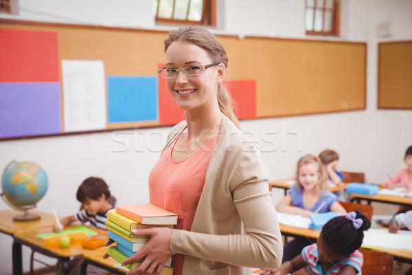 Сток-фото: учитель · улыбаясь · камеры