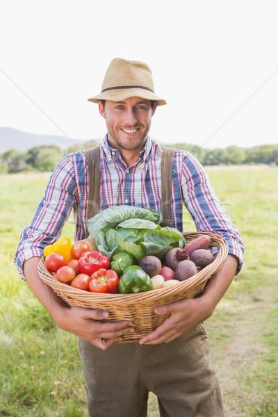 Farmer carrying box of veg Stock photo © wavebreak_media