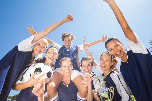 Bastante futebol jogadores ganhar Foto stock © wavebreak_media