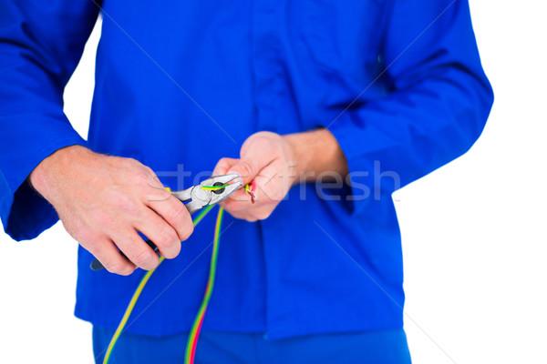électricien fil image homme Ouvrir la Photo stock © wavebreak_media