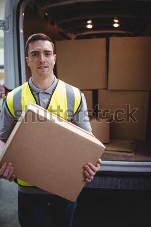 Worker scanning package in warehouse Stock photo © wavebreak_media