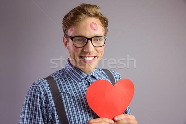 Coberto cara amor homem feliz Foto stock © wavebreak_media