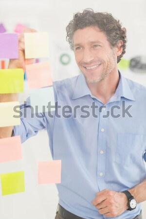 ビジネスマン 見える 付箋 ウィンドウ オフィス ストックフォト © wavebreak_media