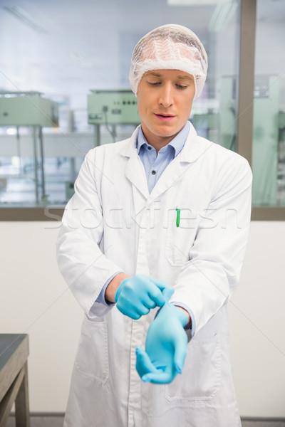 фармацевт резиновые перчатки больницу аптека медицинской Сток-фото © wavebreak_media