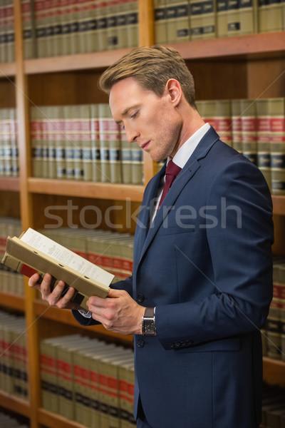 Guapo abogado ley biblioteca Universidad libro Foto stock © wavebreak_media