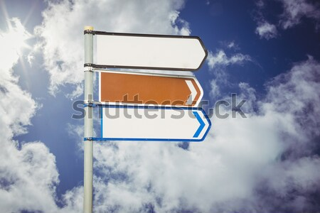 Kierunkowskaz kopia przestrzeń mętny Błękitne niebo Zdjęcia stock © wavebreak_media