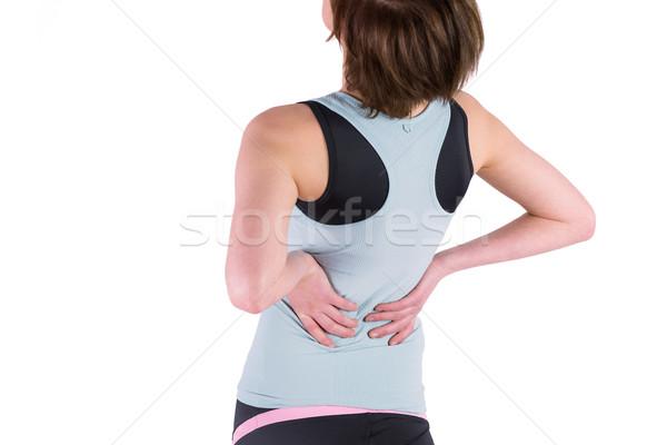 Vrouw Maakt een reservekopie letsel witte lichaam vrouwelijke Stockfoto © wavebreak_media
