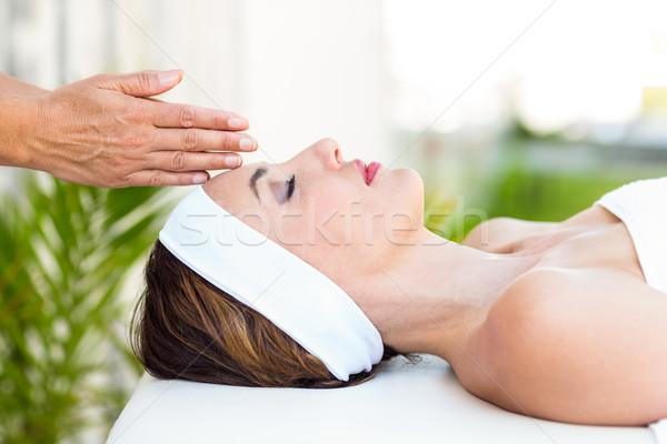 女性 レイキ 治療 皮膚 ストックフォト © wavebreak_media