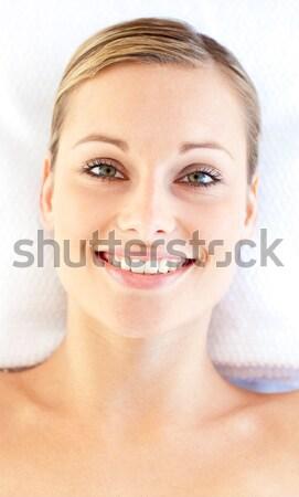 Stockfoto: Mooie · blond · massage · tabel · spa · naakt