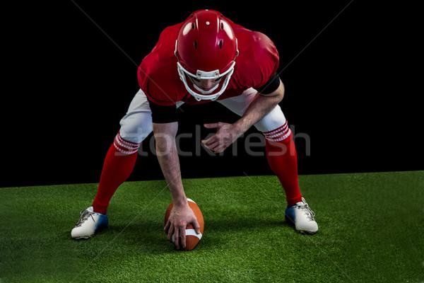 Americano futbolista partido de fútbol campo de fútbol hierba deporte Foto stock © wavebreak_media
