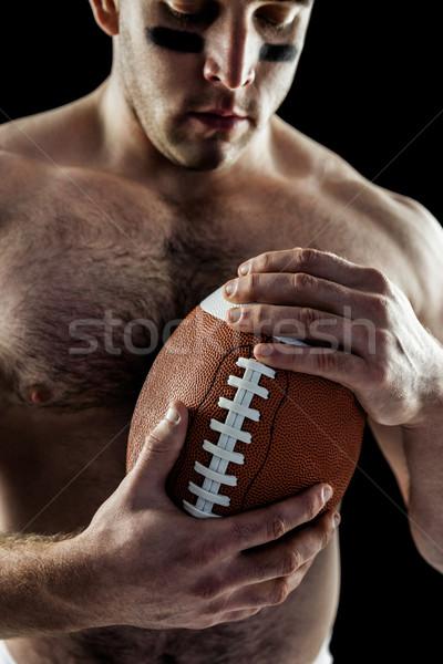 Póló nélkül amerikai futballista labda fekete férfi Stock fotó © wavebreak_media
