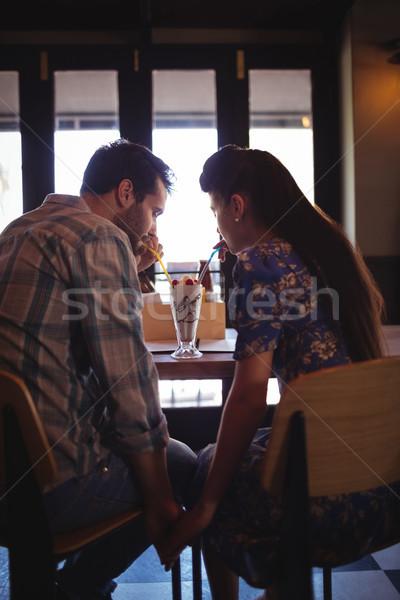 Paar holding handen business liefde man restaurant Stockfoto © wavebreak_media