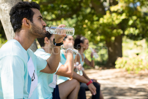 Maraton wody park wodny kobieta charakter Zdjęcia stock © wavebreak_media