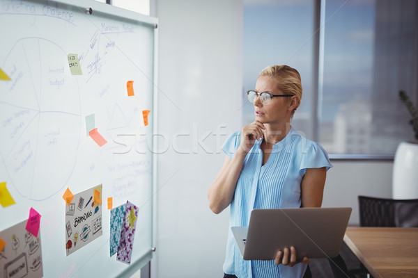 Thoughtful executive looking at whiteboard Stock photo © wavebreak_media