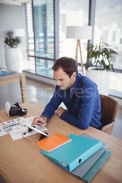 özenli yürütme dijital tablet büro ofis Stok fotoğraf © wavebreak_media