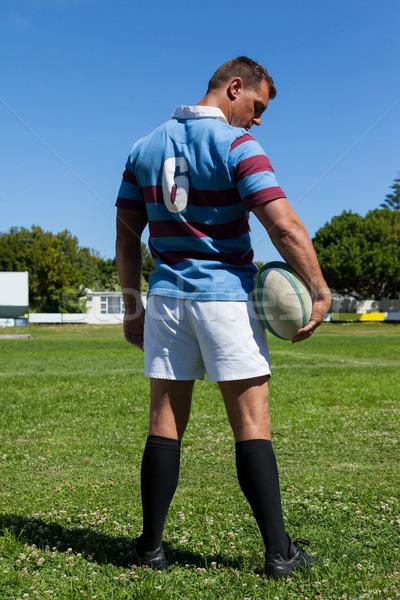 Rugby jugador pelota pie Foto stock © wavebreak_media