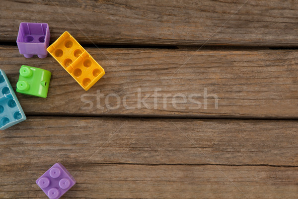 Stock fotó: Kilátás · építőkockák · asztal · műanyag · fa · fitnessz