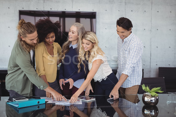 Creative business people working together at office Stock photo © wavebreak_media