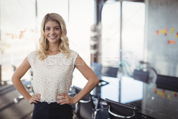 Confident businesswoman standing in meeting room at office Stock photo © wavebreak_media