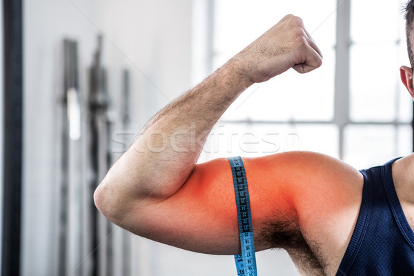 Arm man biceps meetlint digitale composiet Stockfoto © wavebreak_media