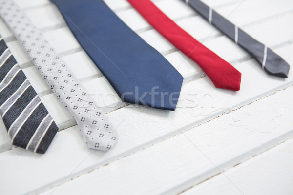 High angle view of multi colored neckties on table Stock photo © wavebreak_media