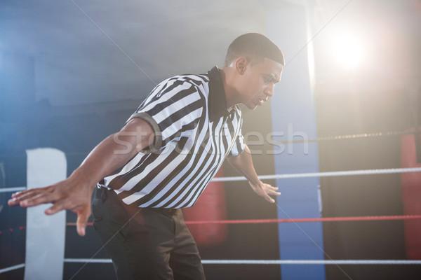 молодые мужчины рукой знак бокса Сток-фото © wavebreak_media