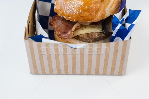 гамбургер далеко контейнера белый Сток-фото © wavebreak_media