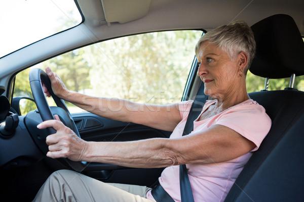 Senior mulher condução carro ativo viajar Foto stock © wavebreak_media