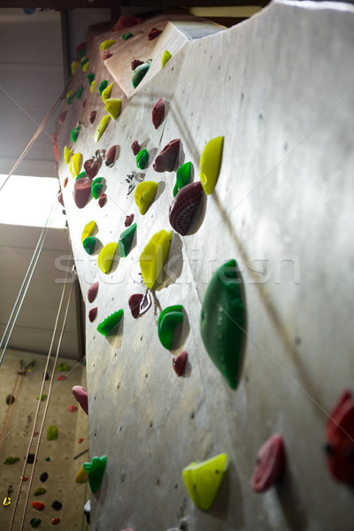 Wall with colorful footholds Stock photo © wavebreak_media