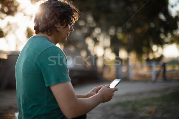 человека мобильного телефона ранчо молодым человеком любви лет Сток-фото © wavebreak_media