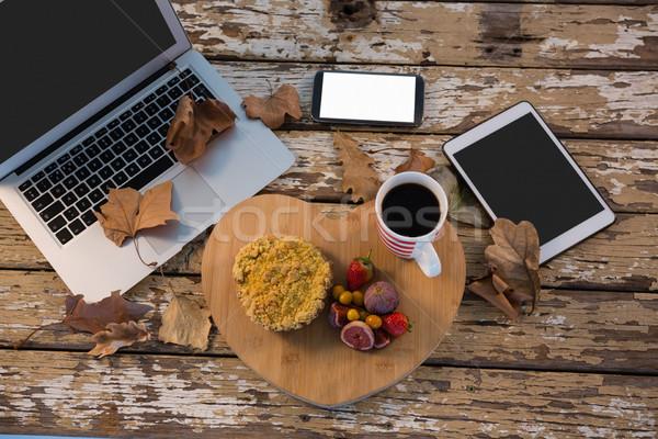 Alimentos taza de café bandeja mesa Foto stock © wavebreak_media