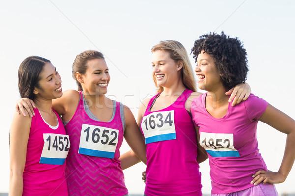4 笑みを浮かべて ランナー 乳癌 マラソン 女性 ストックフォト © wavebreak_media