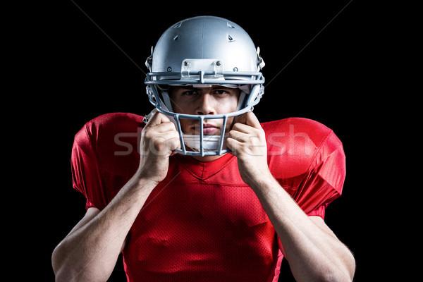 Portré amerikai futballista tart sisak játszik Stock fotó © wavebreak_media