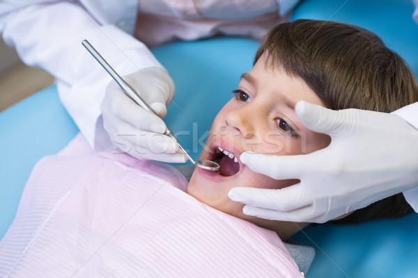 Obraz dentysta wyposażenie chłopca Zdjęcia stock © wavebreak_media