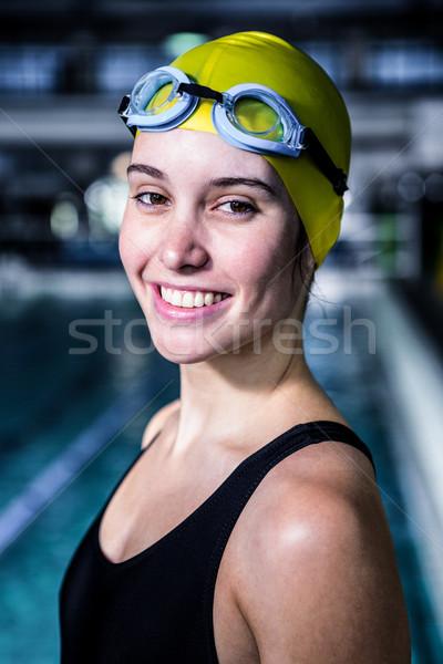портрет женщину пловец глядя камеры Бассейн Сток-фото © wavebreak_media