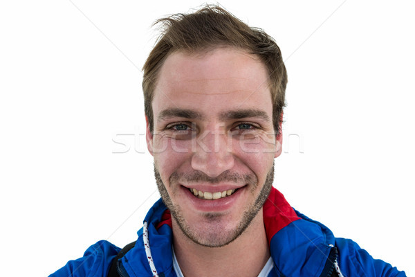 Widoku backpacker uśmiechnięty biały człowiek Zdjęcia stock © wavebreak_media