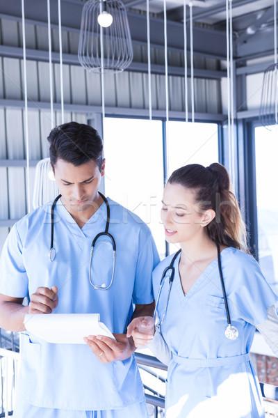 Medical team talking at the hospital Stock photo © wavebreak_media