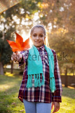 Stock photo: Portrait of beautiful little girl with backpack