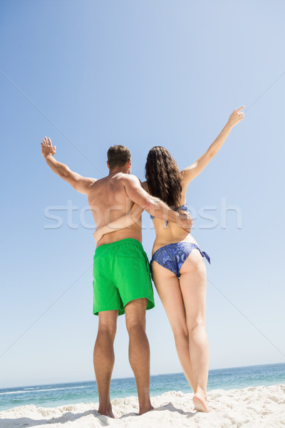 пару руки вокруг другой пляж женщину Сток-фото © wavebreak_media