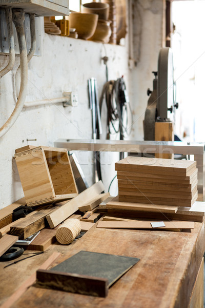 Herramientas utilizado carpintería polvoriento taller Foto stock © wavebreak_media