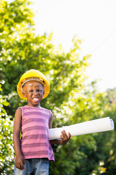 Boy with a safety helmet Stock photo © wavebreak_media
