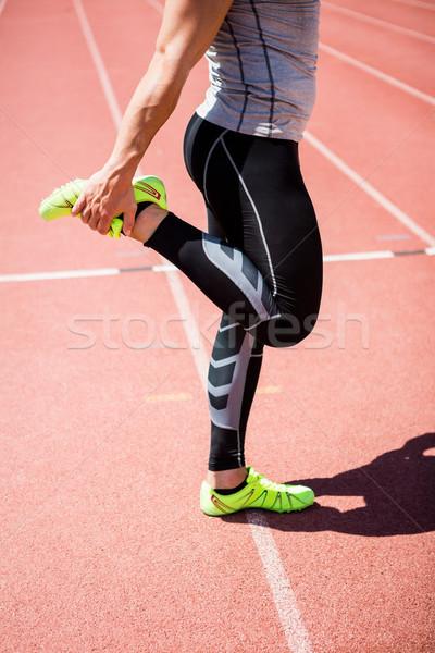 спортсмена вверх работает трек человека Сток-фото © wavebreak_media